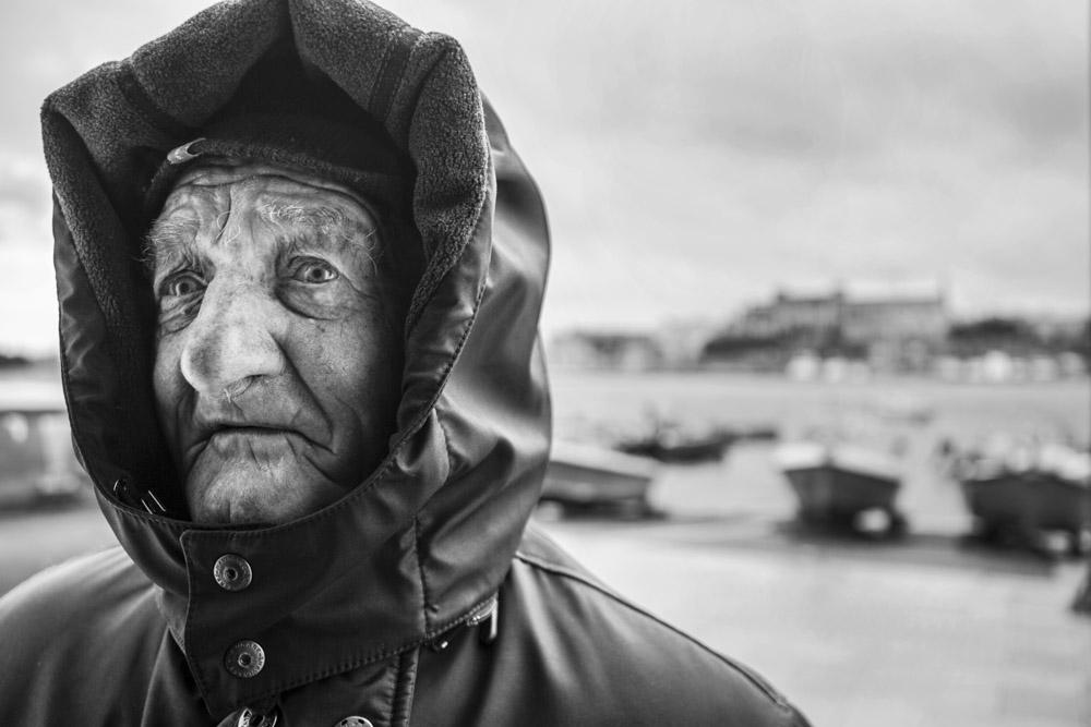 Ritratti, anziano, pescatore