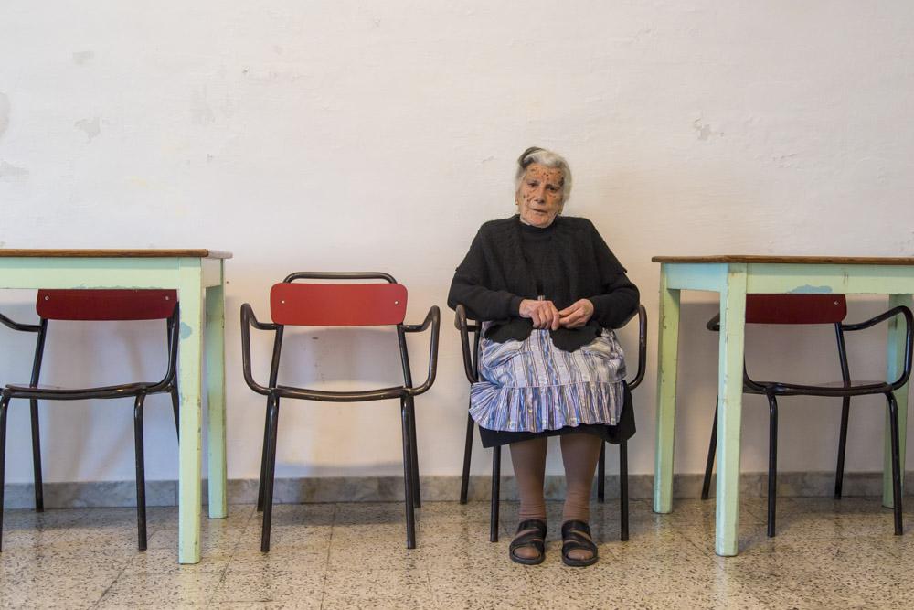 Reportage, ritratto,anziana