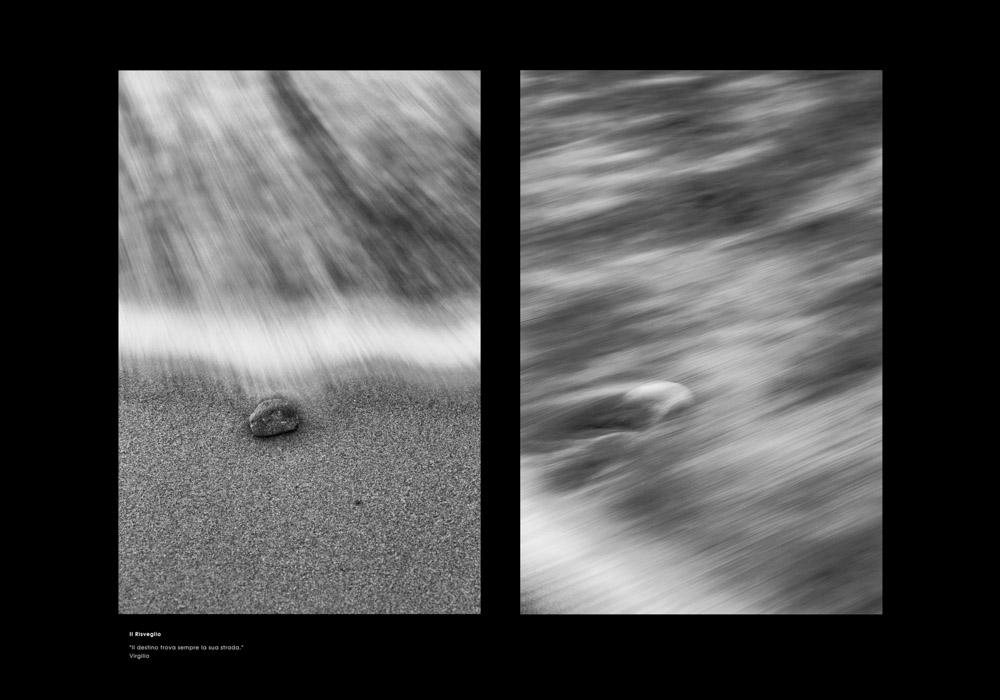 Il risveglio, sasso, mare, sabbia, la ricerca il viaggio Lunghe esposizioni