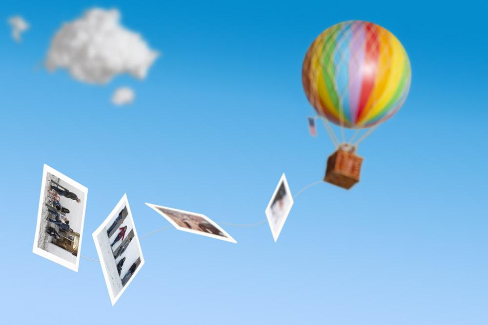 Mongolfiera, Polaroid, Still life,cielo, nuvole