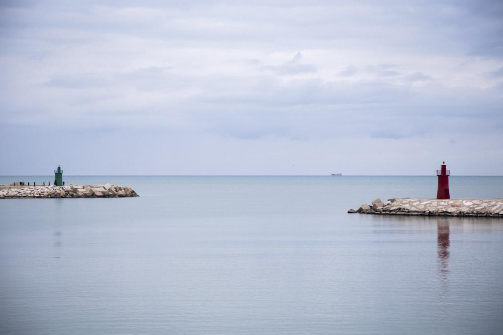 porto, barca, pescatore, scia, mare,nave, seascape, veduta,
