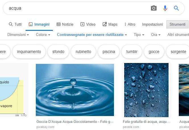 5 Google immagini diritti d'autore, creative commons